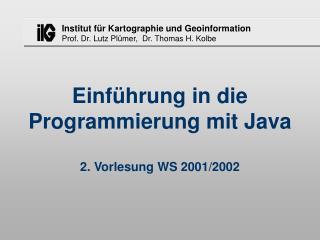 Einf hrung in die Programmierung mit Java