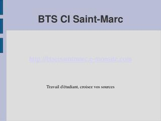 BTS CI Saint-Marc