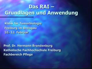 Das RAI    Grundlagen und Anwendung