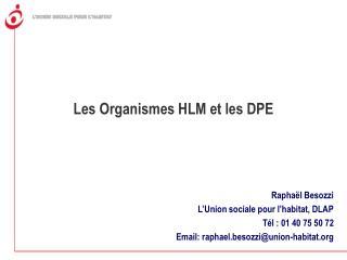 Les Organismes HLM et les DPE