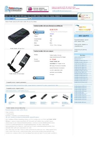Accu Toshiba Satellite L40,Toshiba Satellite L40 adaptor