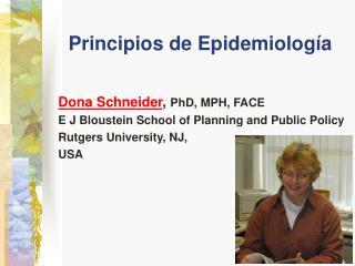 Principios de Epidemiolog a