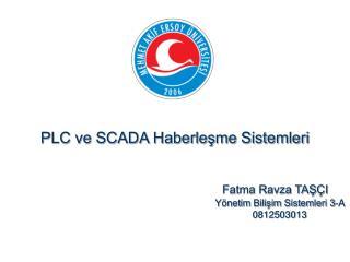 PLC ve SCADA Haberlesme Sistemleri                                    Fatma Ravza TAS I           Y netim Bilisim Sistem