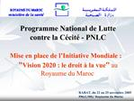 Programme National de Lutte contre la C cit  - PNLC