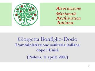Associazione                                              Nazionale                                              Archivi