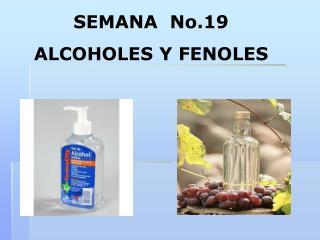 SEMANA  No.19 ALCOHOLES Y FENOLES