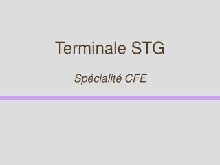 Terminale STG
