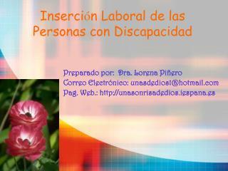 Inserci n Laboral de las  Personas con Discapacidad