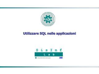 Utilizzare SQL nelle applicazioni