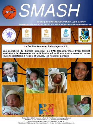 SMASH                                                    Le Mag de l AS Beaumarchais Lyon Basket