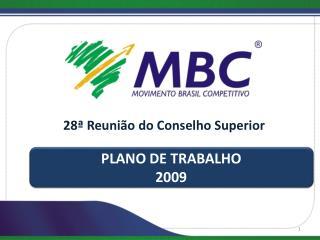 PLANO DE TRABALHO 2009