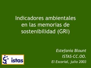Indicadores ambientales  en las memorias de sostenibilidad GRI