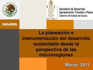 La planeaci n e instrumentaci n del desarrollo sustentable desde la perspectiva de las microrregiones
