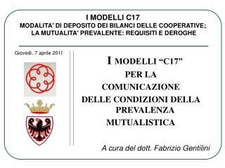 A cura del dott. Fabrizio Gentilini