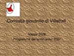 Consulta giovanile di Villafrati