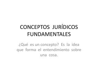 CONCEPTOS  JUR DICOS   FUNDAMENTALES