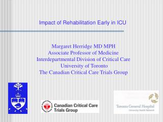 Impact of Rehabilitation Early in ICU