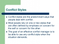Conflict Styles
