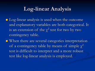 Log-linear Analysis