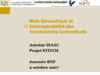 Web S mantique et Interop rabilit  des Vocabulaires Conceptuels