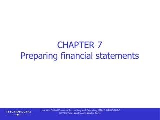CHAPTER 7 Preparing financial statements
