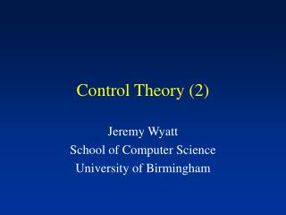 Control Theory 2