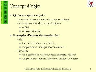 Concept d objet
