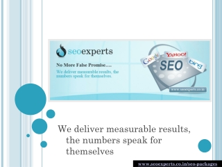 Customize your own SEO package based on your needs