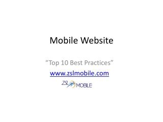 Top 10 Mobile Website Best Practices