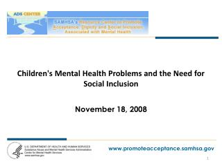 Childrens Mental Health Problems and the Need for Social Inclusion