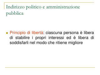 Indirizzo politico e amministrazione pubblica
