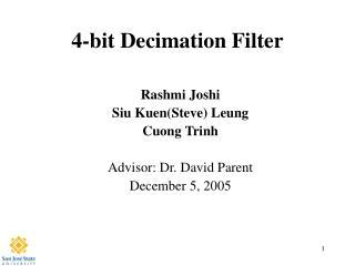 4-bit Decimation Filter