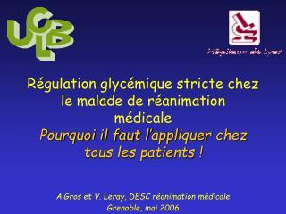 R gulation glyc mique stricte chez le malade de r animation m dicale  Pourquoi il faut l appliquer chez tous les patient