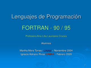 Lenguajes de Programaci n  FORTRAN - 90