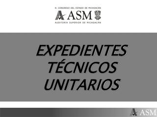 EXPEDIENTES T CNICOS UNITARIOS