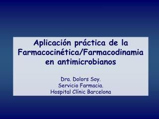 Aplicaci n pr ctica de la  Farmacocin tica