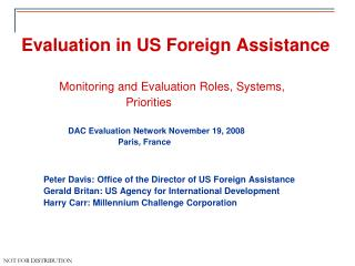 Evaluation in US Foreign Assistance
