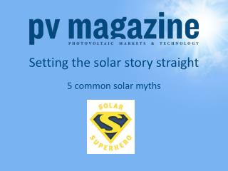 Setting the solar story straight