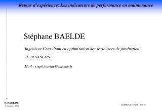St phane BAELDE