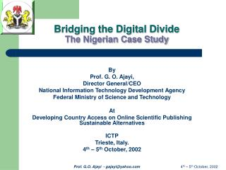 Bridging the Digital Divide The Nigerian Case Study
