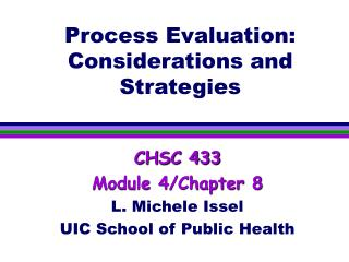 Process Evaluation: Considerations and Strategies