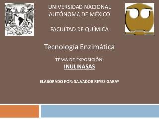 UNIVERSIDAD NACIONAL AUT NOMA DE M XICO  FACULTAD DE QU MICA