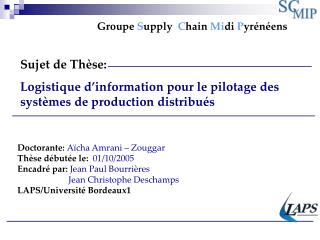 Groupe Supply  Chain Midi Pyr n ens