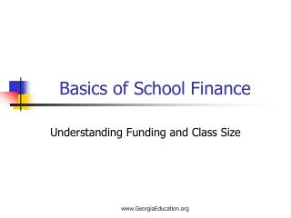 Basics of School Finance