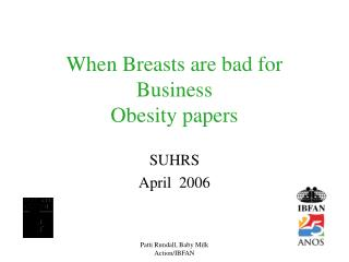 When Breasts are bad for Business  Obesity papers