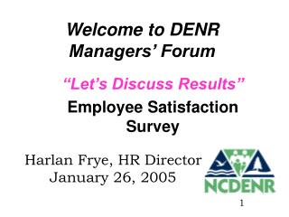 Welcome to DENR Managers  Forum