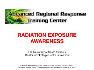RADIATION EXPOSURE AWARENESS PRESENTATION - NCDMR