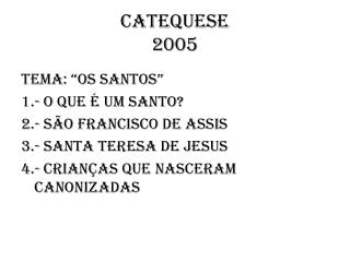 CATEQUESE 2005