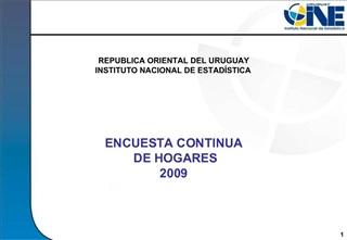 ENCUESTA CONTINUA  DE HOGARES 2009 CAPACITACI N