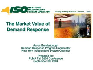 The Market Value of Demand Response